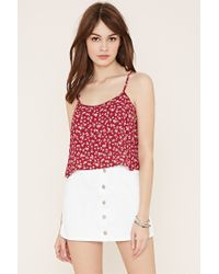 Forever 21 | Red Floral Print Cami | Lyst
