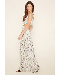 Forever 21 - White Plunging Cutout Maxi Dress - Lyst