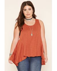 Forever 21 | Red Plus Size Burnout Trapeze Top | Lyst