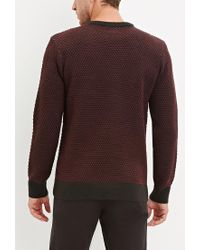 Forever 21 - Purple Popcorn Knit Sweater for Men - Lyst