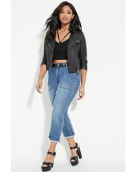 Forever 21 - Blue Plus Size Pocket Jeans - Lyst