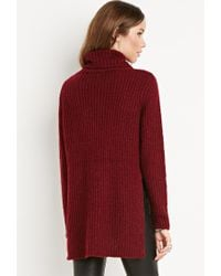 Forever 21 - Purple Ribbed Turtleneck Sweater - Lyst