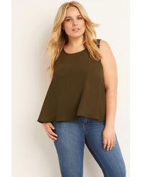 Forever 21 - Green Plus Size Classic Chiffon Top - Lyst