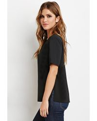 Forever 21 - Black Classic Vented Top - Lyst