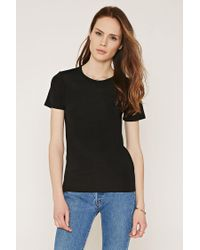 Forever 21   Black Contemporary Stretch Knit Tee   Lyst