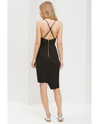 Forever 21 - Black Ministry Of Style Frosted Pencil Dress - Lyst