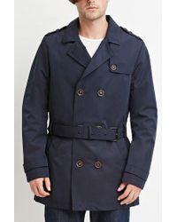 Forever 21 | Blue Belted Trench Coat for Men | Lyst