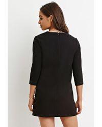 Forever 21 | Black V-neck Mini Dress | Lyst