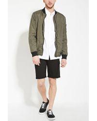 Forever 21 - Black Cuffed-hem Pocket Shorts for Men - Lyst