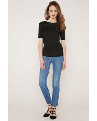 Forever 21 - Black Contemporary Strappy V-back Tee - Lyst