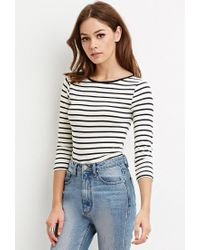 Forever 21 | Natural Classic Stripe Top | Lyst