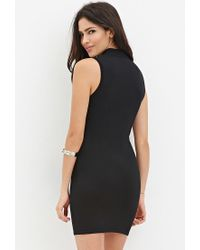 Forever 21 - Black Mock Neck Jumper Dress - Lyst