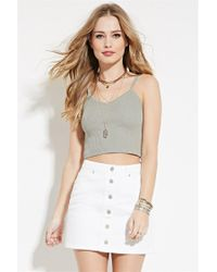 Forever 21 | Gray Cami Crop Top | Lyst