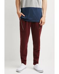 Forever 21 - Purple Zip-pocket Piqué Sweatpants for Men - Lyst