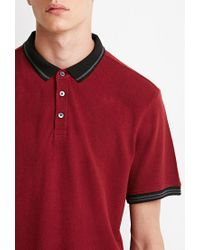 Forever 21 - Red Striped-trim Polo for Men - Lyst