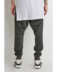 Forever 21 - Black Drop-pocket Sweatpants for Men - Lyst