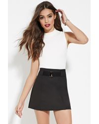 Forever 21   White High-neck Crop Top   Lyst