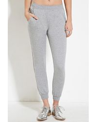 Forever 21 - Gray Topstitch Heathered Jogger - Lyst
