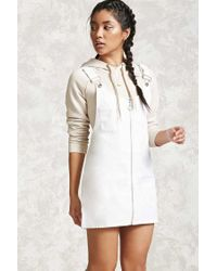 Forever 21 | White Ring Zipper Overall Dress | Lyst