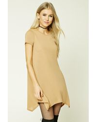 Forever 21 | Natural Ribbed Swing Dress | Lyst