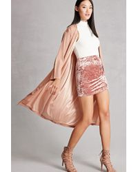 Forever 21   Pink Miss Truth Longline Belted Coat   Lyst
