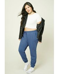 Forever 21 | Blue Plus Size Heathered Sweatpants | Lyst