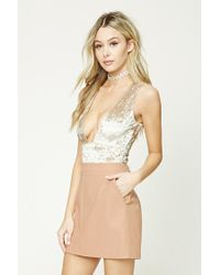 Forever 21 | Natural Faux Leather Mini Skirt | Lyst