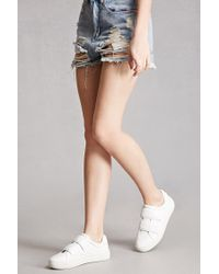 Forever 21 | White J Slides Leather Low-top Sneakers | Lyst