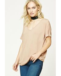 Forever 21 | Natural Contemporary V-neck Dolman Top | Lyst