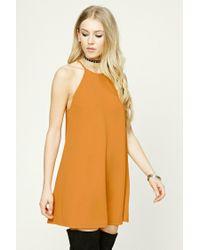 Forever 21 | Orange Textured Swing Dress | Lyst