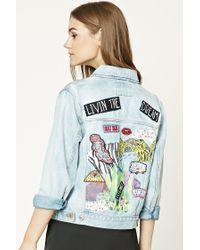 Forever 21 | Blue Living The Dream Denim Jacket | Lyst