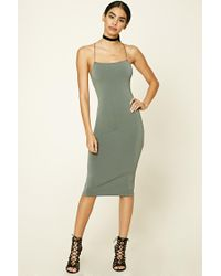 Forever 21 | Green Back Cutout Cami Dress | Lyst