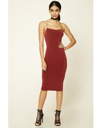 Forever 21 | Red Back Cutout Cami Dress | Lyst