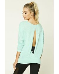 Forever 21 | Green Active Open-back Dolman Top | Lyst