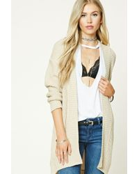 Forever 21 | Natural Longline Open-knit Cardigan | Lyst