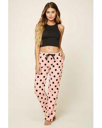 Forever 21   Pink Polka Dot Print Pyjama Pants   Lyst