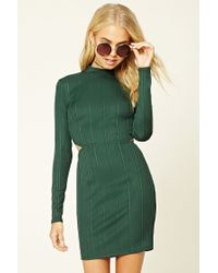 Forever 21 | Multicolor Cutout Bodycon Dress | Lyst