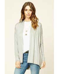 Forever 21 | Gray Open-front Cardigan | Lyst