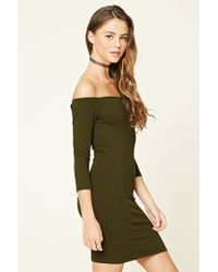 Forever 21 - Green Classic Bodycon Dress - Lyst
