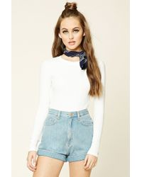 Forever 21 | White Ribbed Knit Tee | Lyst