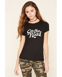 Forever 21 | Black On The Road Tee | Lyst