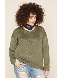 Forever 21 | Green Plus Size Crew Neck Jumper | Lyst