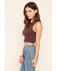 Forever 21 - Multicolor Striped Crop Top - Lyst