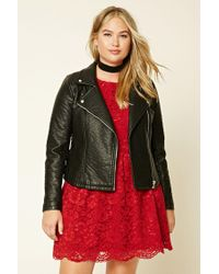 Forever 21 | Red Plus Size Floral Lace Dress | Lyst