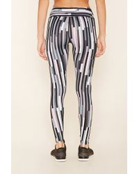 Forever 21 - Black Active Abstract Print Leggings - Lyst