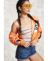 Forever 21 | Multicolor Strappy Striped Bodysuit | Lyst