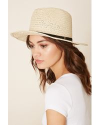 Forever 21 | Natural Short-brim Straw Fedora | Lyst