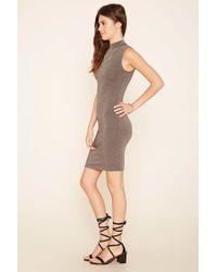 Forever 21 - Gray Mock Neck Midi Dress - Lyst