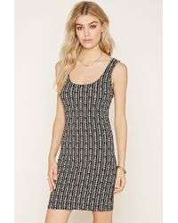 Forever 21   Natural Leaf Print Bodycon Dress   Lyst