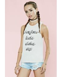 Forever 21 | Natural Bonjour Sup Graphic Muscle Tee | Lyst